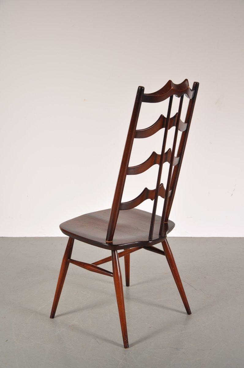 mid century esszimmerst hle aus gebeiztem holz von lucian. Black Bedroom Furniture Sets. Home Design Ideas