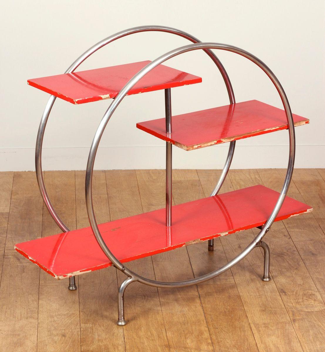 rundes franz sisches regal 1930 bei pamono kaufen. Black Bedroom Furniture Sets. Home Design Ideas
