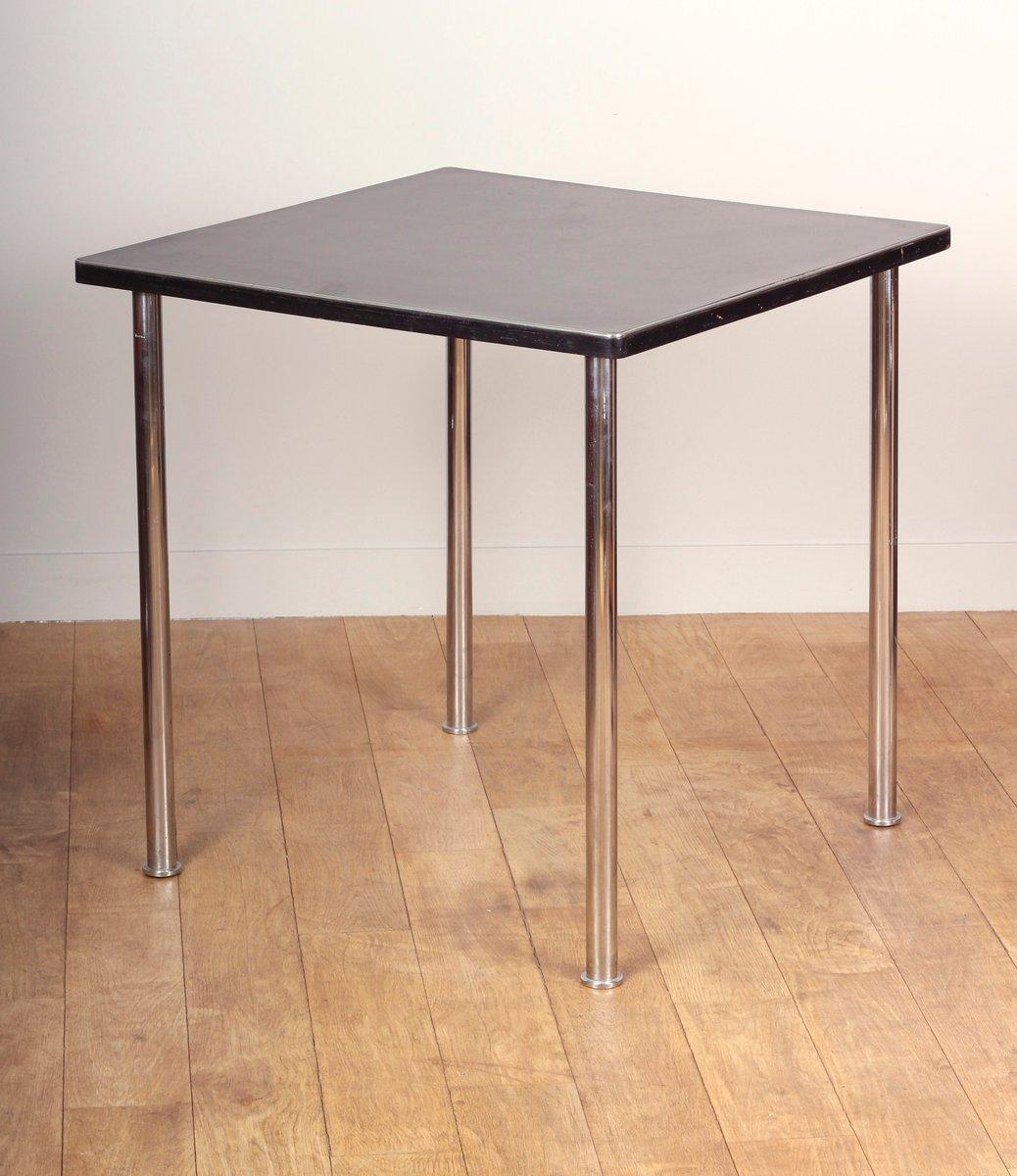 schwarzer quadratischer bakelit tisch 1930 bei pamono kaufen. Black Bedroom Furniture Sets. Home Design Ideas