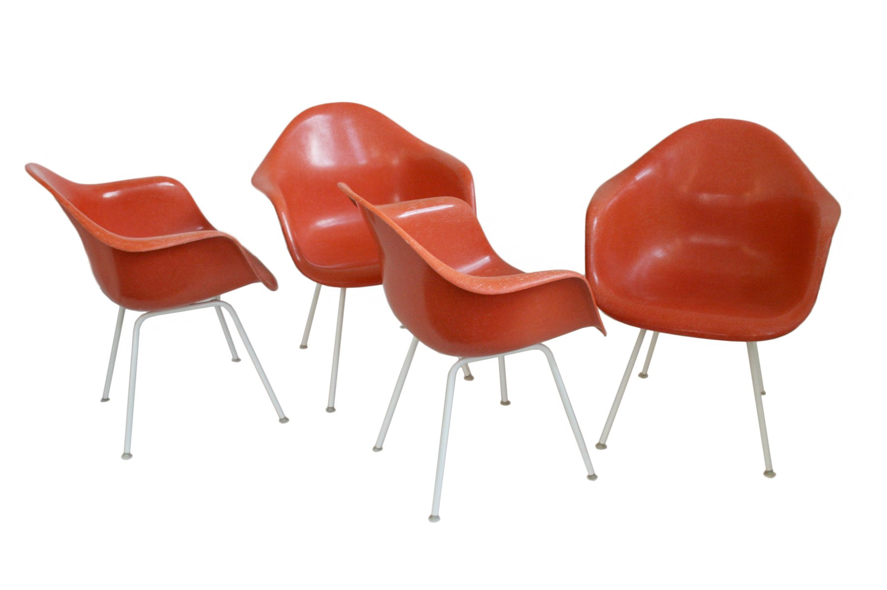 DAX Shell Chairs by Charles and Ray Eames for Vitra 1950s Set of