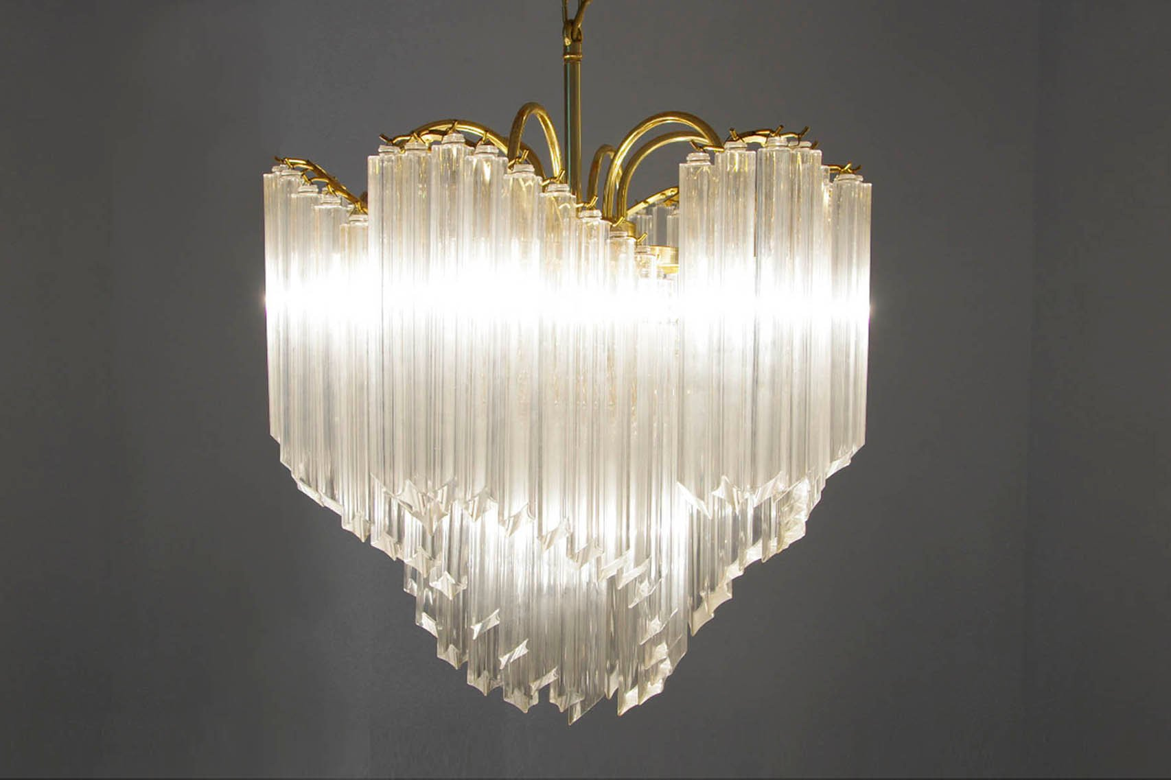 Italian Modern Murano Glass Chandelier 1950 for sale at Pamono