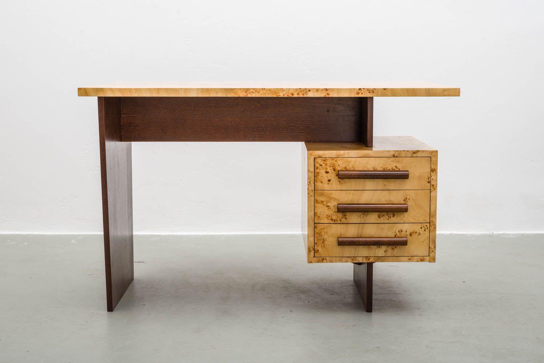 mid century freestanding desk in veneered birch s for sale at  - mid century freestanding desk in veneered birch s