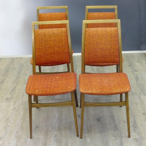 Scandinavian modern style chairs set of 4 1960s for sale for Sixties style chairs
