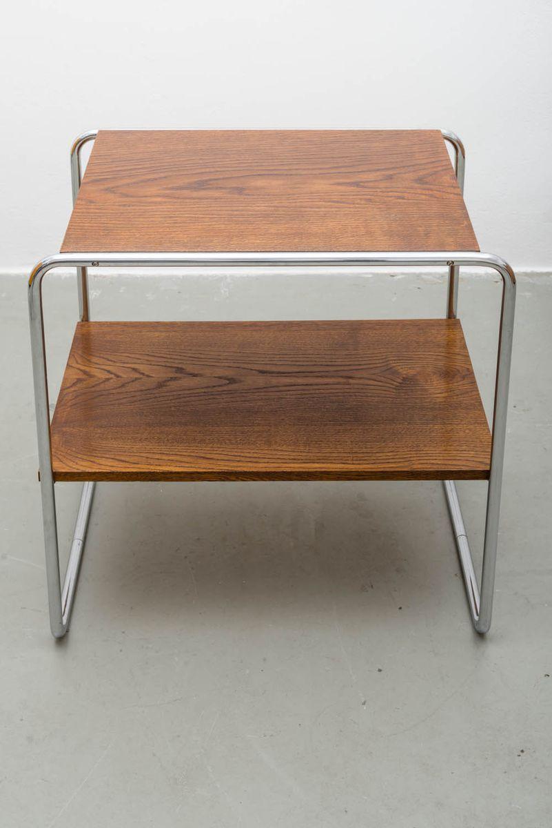 art d co etagere aus verchromtem stahl und holz von kovona 1930 bei pamono kaufen. Black Bedroom Furniture Sets. Home Design Ideas