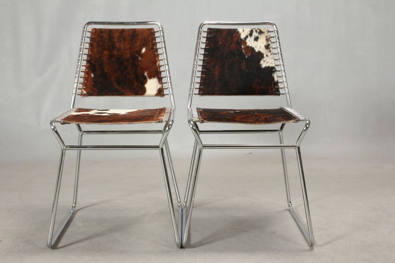 Vintage Danish Cowhide Chairs Set of 2 for sale at Pamono
