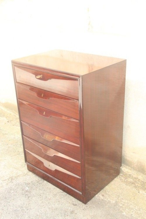 vintage holz kommode von osvaldo borsani 1950er bei pamono kaufen. Black Bedroom Furniture Sets. Home Design Ideas