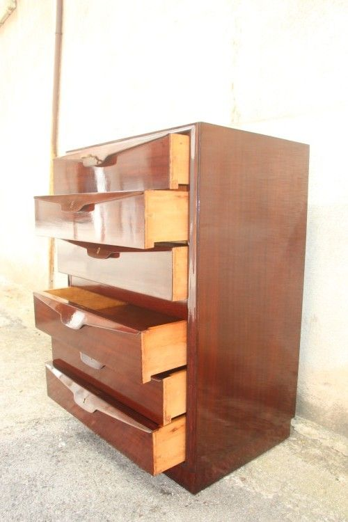 vintage holz kommode von osvaldo borsani 1950er bei. Black Bedroom Furniture Sets. Home Design Ideas