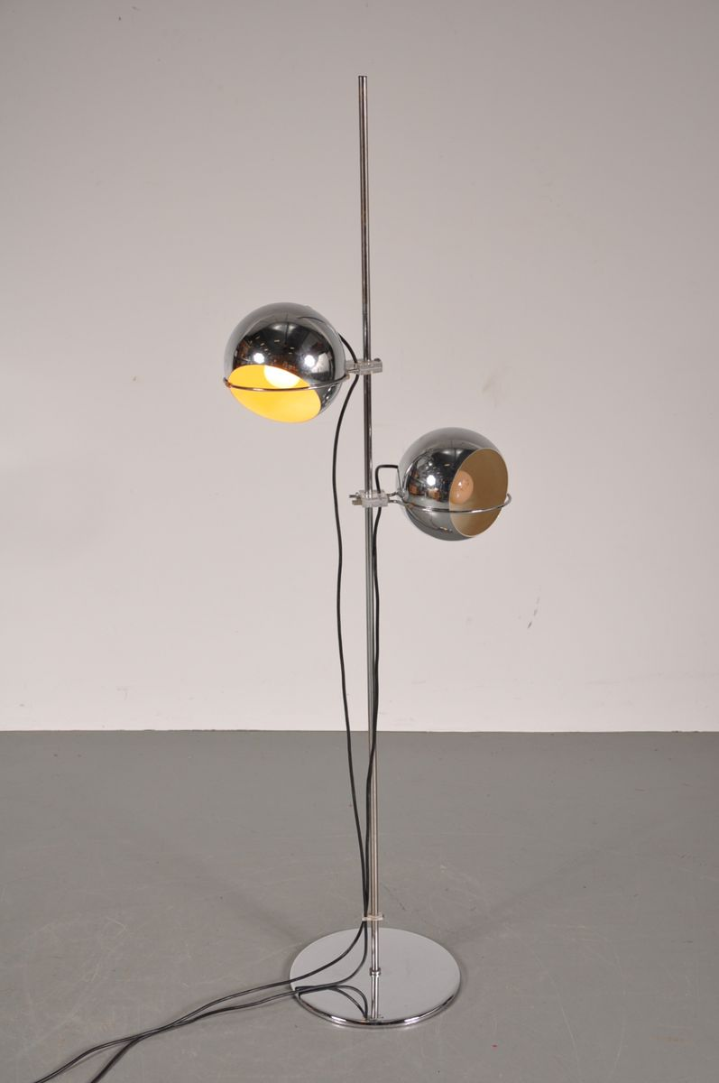 Dutch Chrome Floor Lamp From Gepo For Sale At Pamono