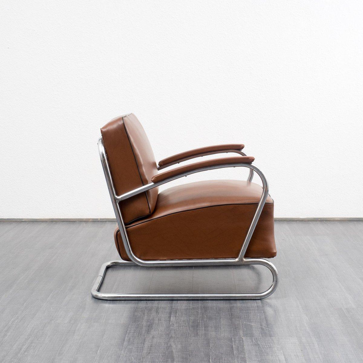 vintage armlehnstuhl im bauhaus stil bei pamono kaufen. Black Bedroom Furniture Sets. Home Design Ideas