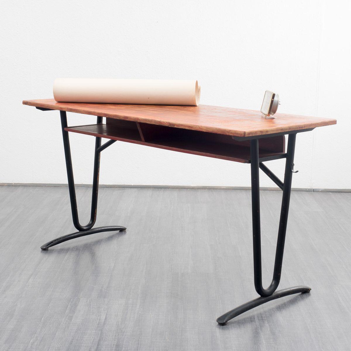 vintage oak school desk 1950s for sale at pamono. Black Bedroom Furniture Sets. Home Design Ideas