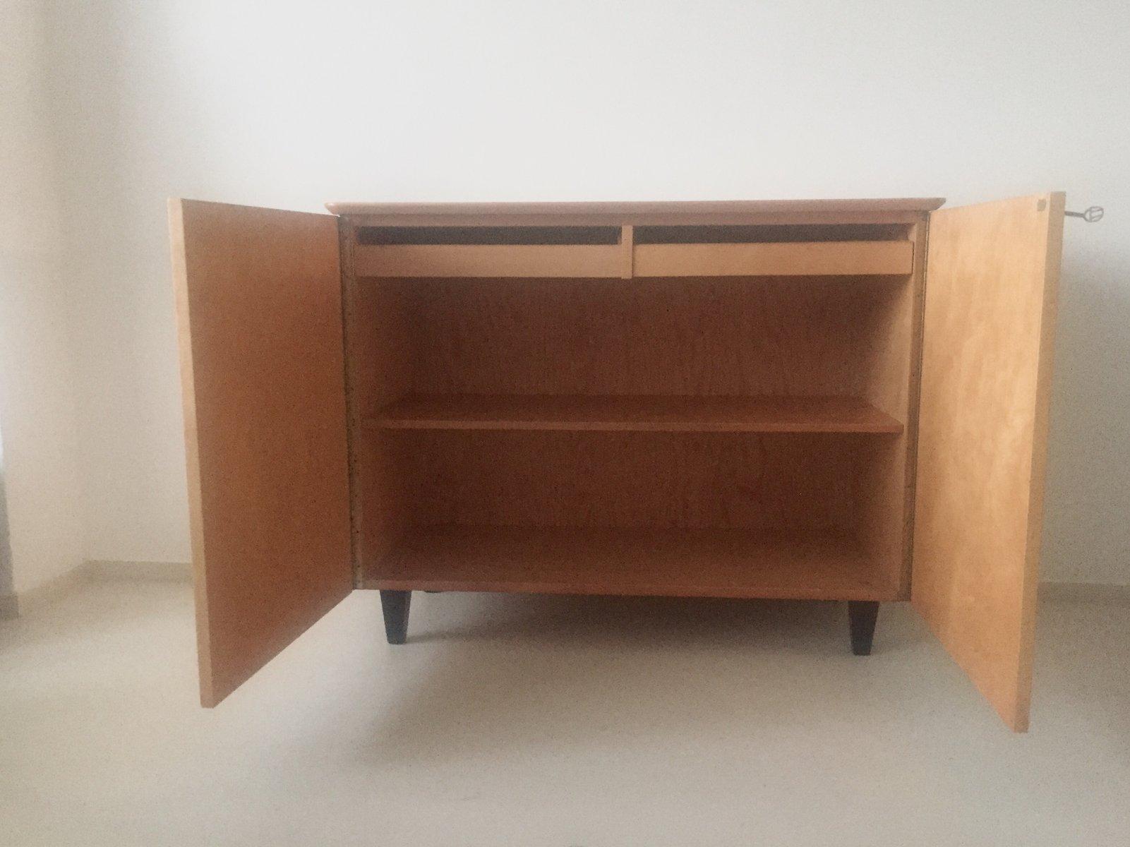 vintage mid century schrank aus birkenholz von edsby. Black Bedroom Furniture Sets. Home Design Ideas