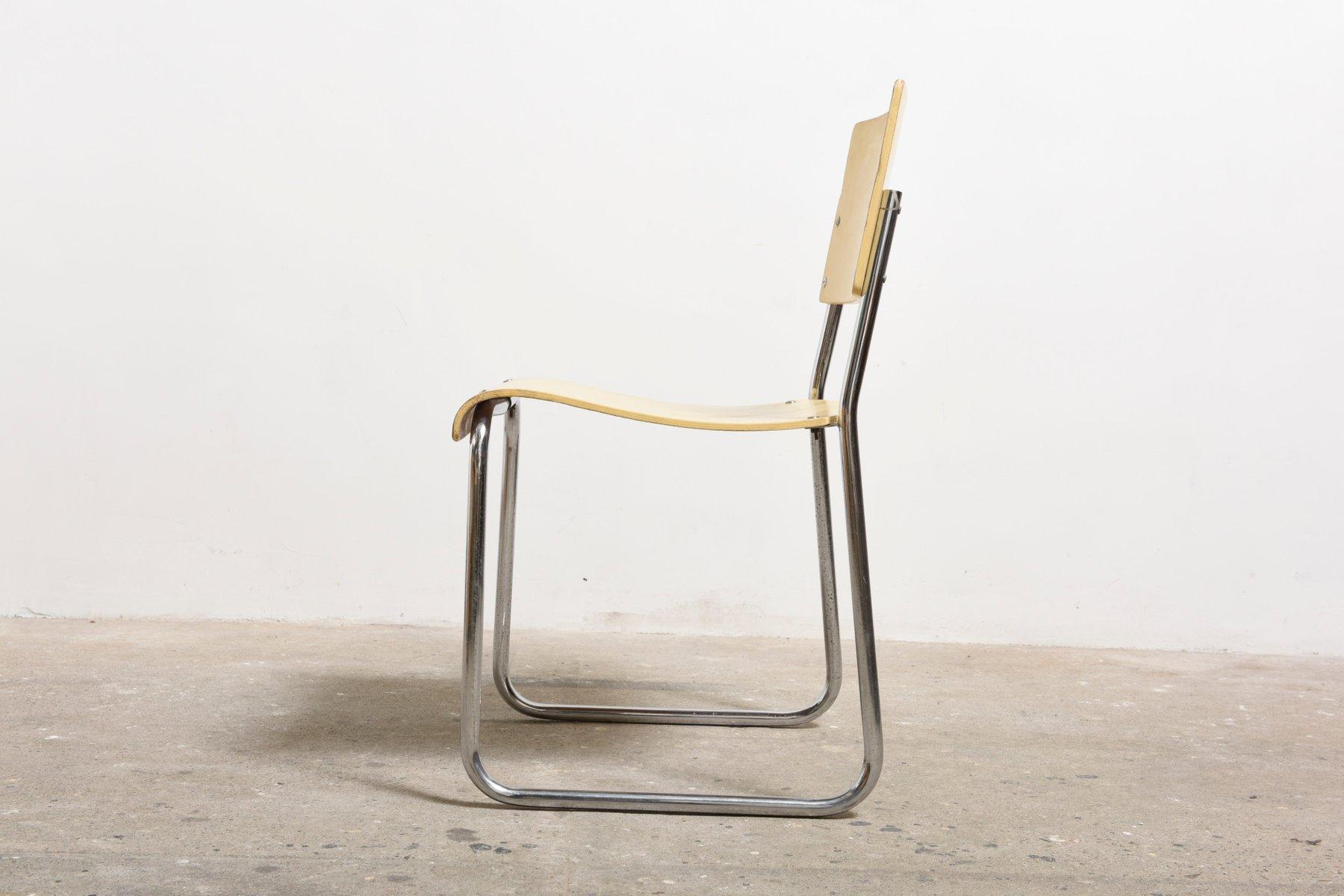 Bauhaus chair 1920 - German Art Deco Bauhaus Chairs 1920s Set Of 6