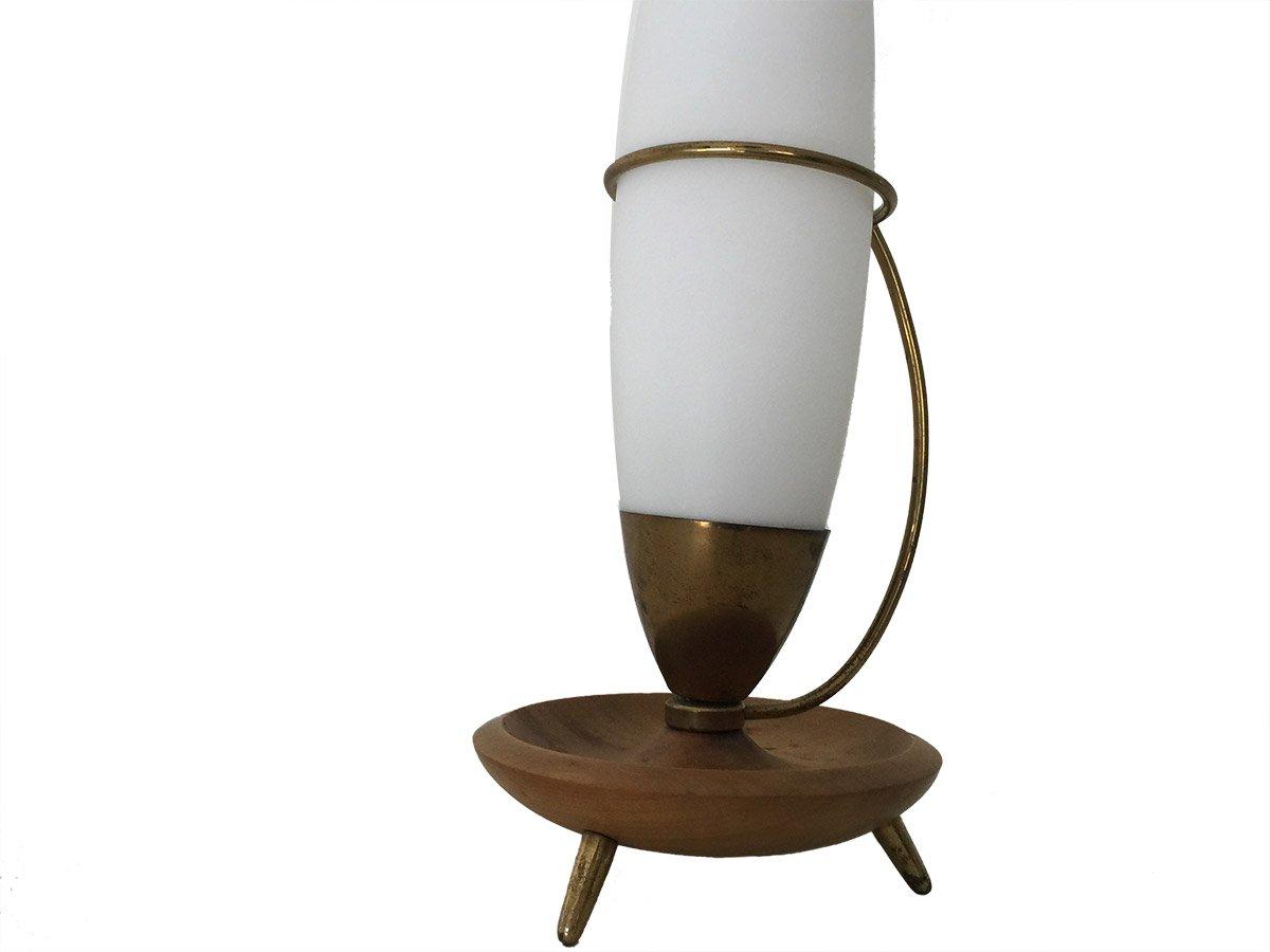 vintage glas holz schreibtischlampe von stilnovo 1950er. Black Bedroom Furniture Sets. Home Design Ideas