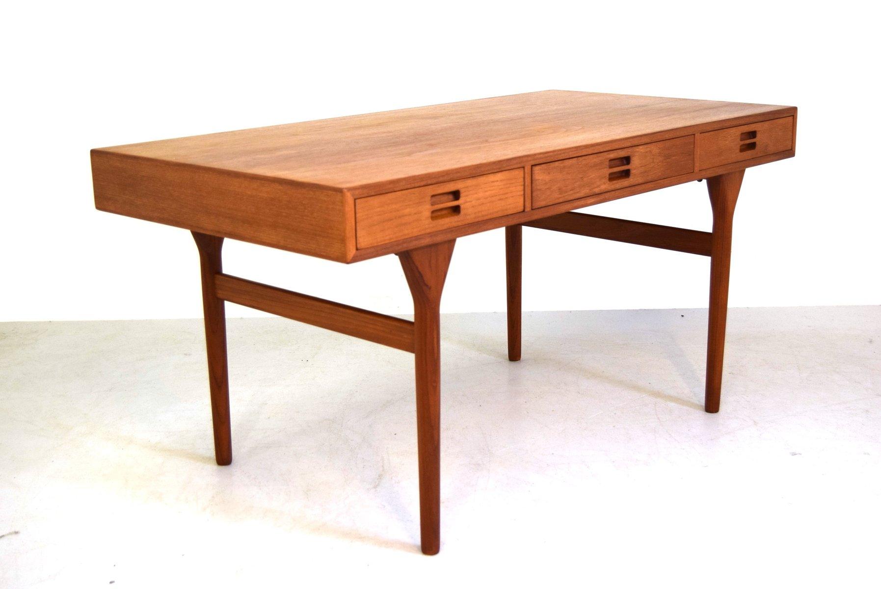 vintage teak schreibtisch von nanna ditzel f r s ren. Black Bedroom Furniture Sets. Home Design Ideas