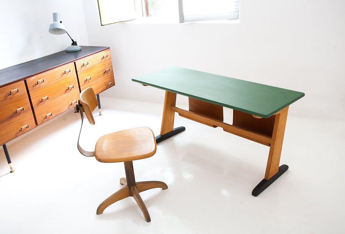 Deutsche mid century buchenholz schreibtisch von casala for Schreibtisch aus buchenholz