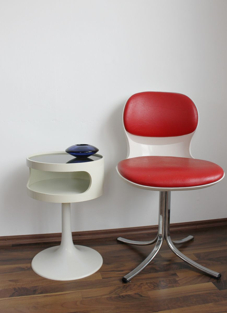 vintage space age side table from opal m bel 1970s for sale at pamono. Black Bedroom Furniture Sets. Home Design Ideas