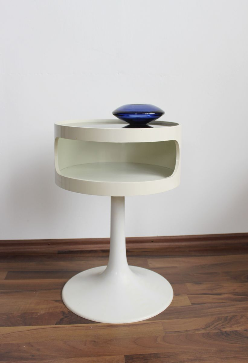 vintage space age side table from opal m bel 1970s for. Black Bedroom Furniture Sets. Home Design Ideas