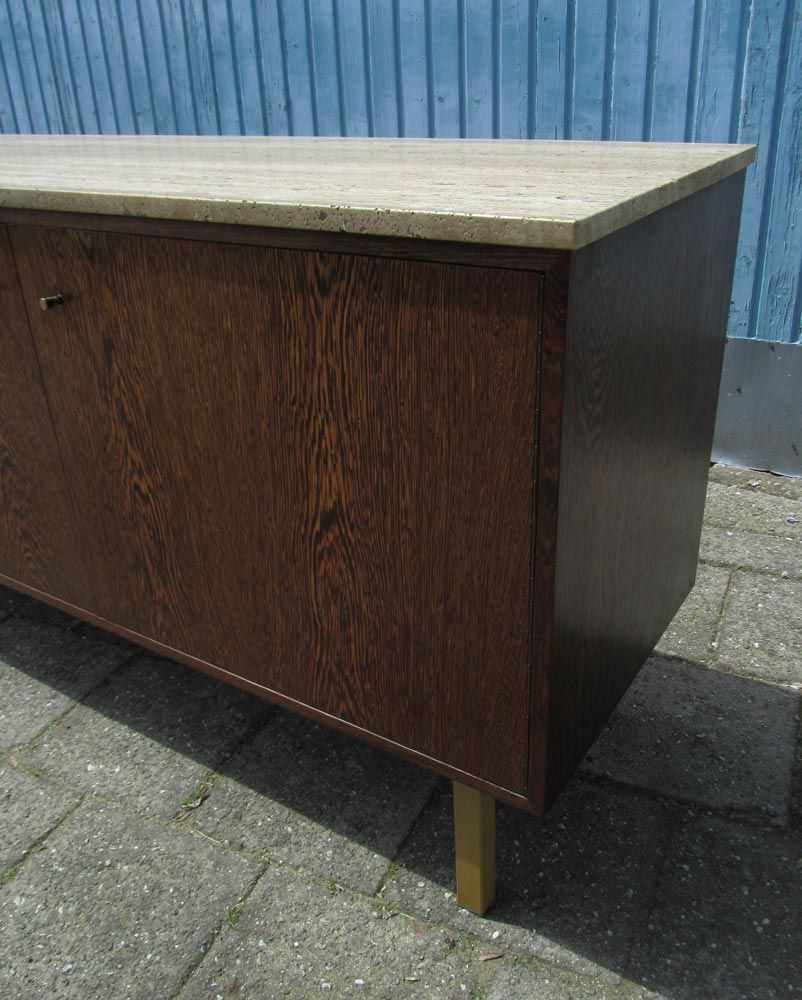 Vintage weng sideboard with travertine top 1960s for - Sideboard wenge ...