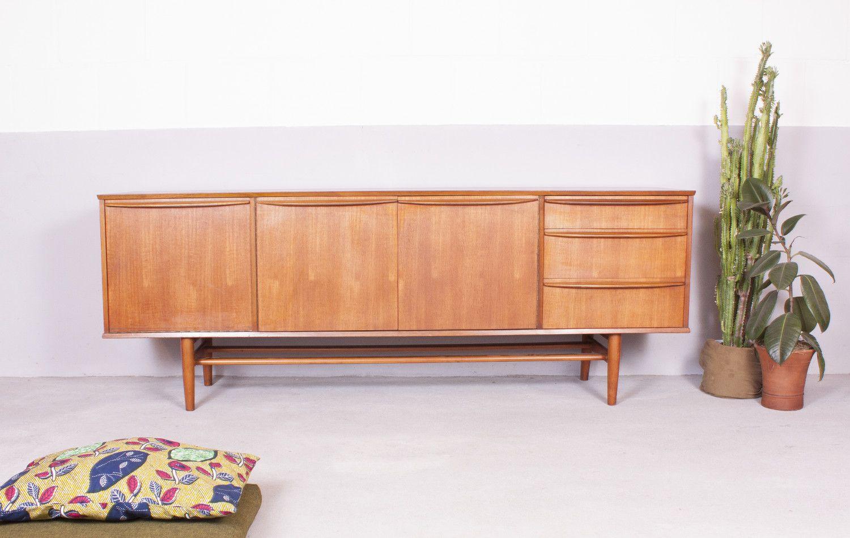 Minimal teak sideboard by neil morris for morris of for Sideboard 70 cm