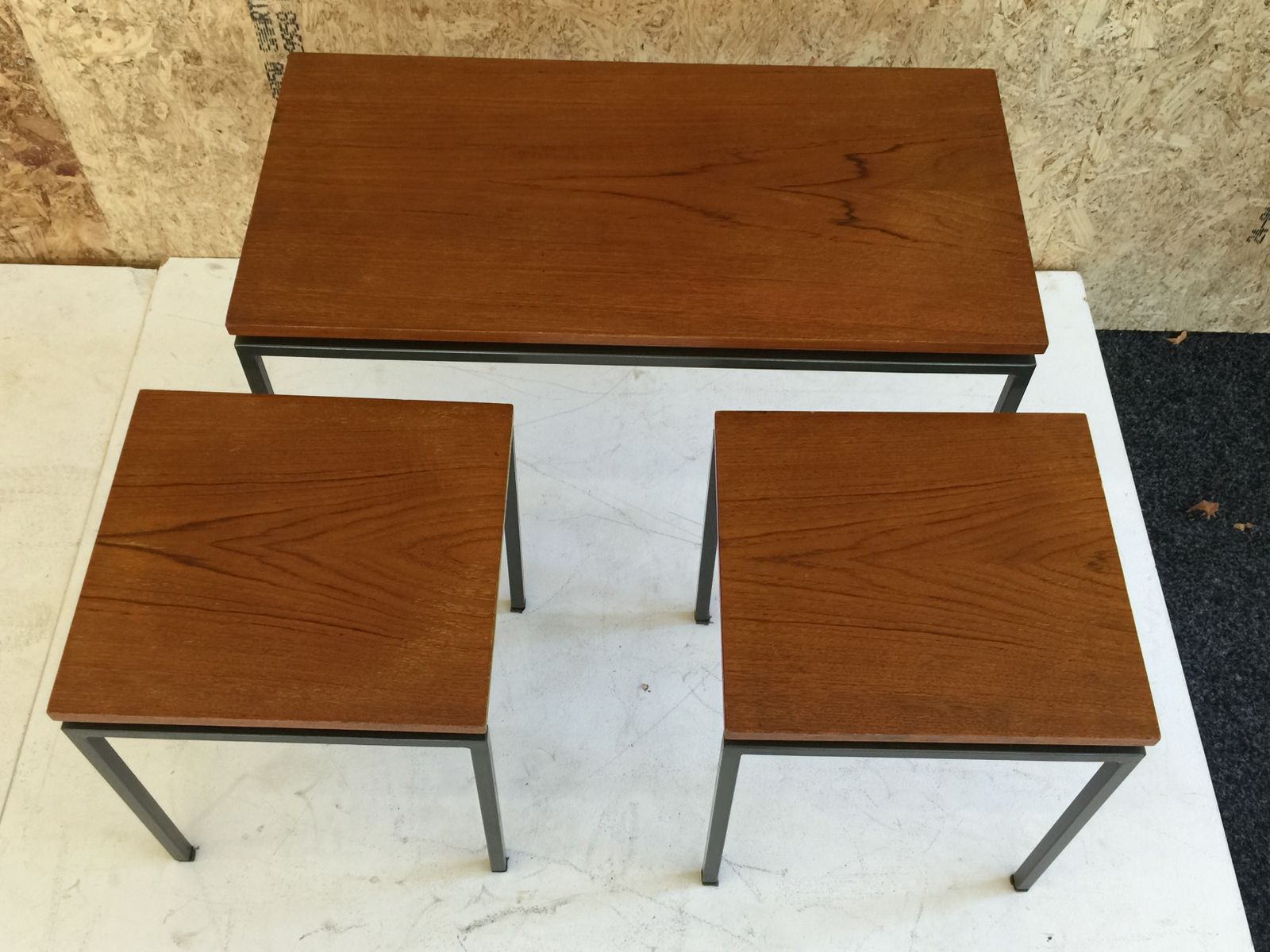 Wonderful image of Dutch Teak Nesting Tables from Pastoe 1960s Set of 3 for sale at  with #723B12 color and 1600x1200 pixels