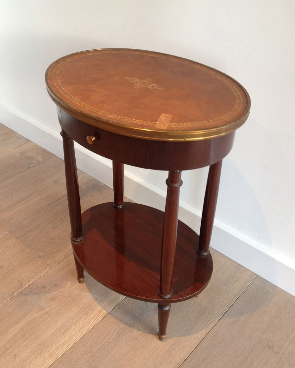 Small Oval Table With Leather Top 6. $604.00. Price Per Piece