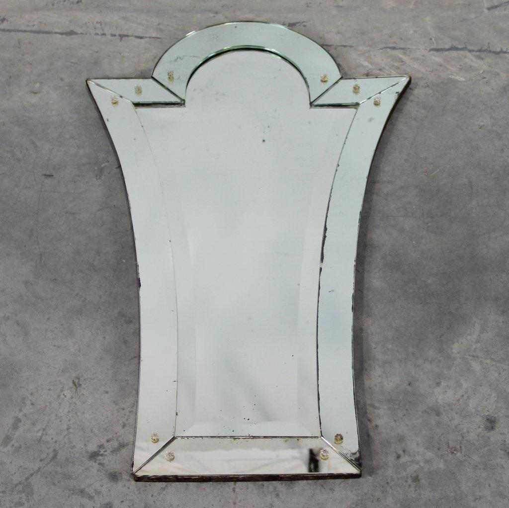 Art deco venetian mirror for sale at pamono for Miroir art deco