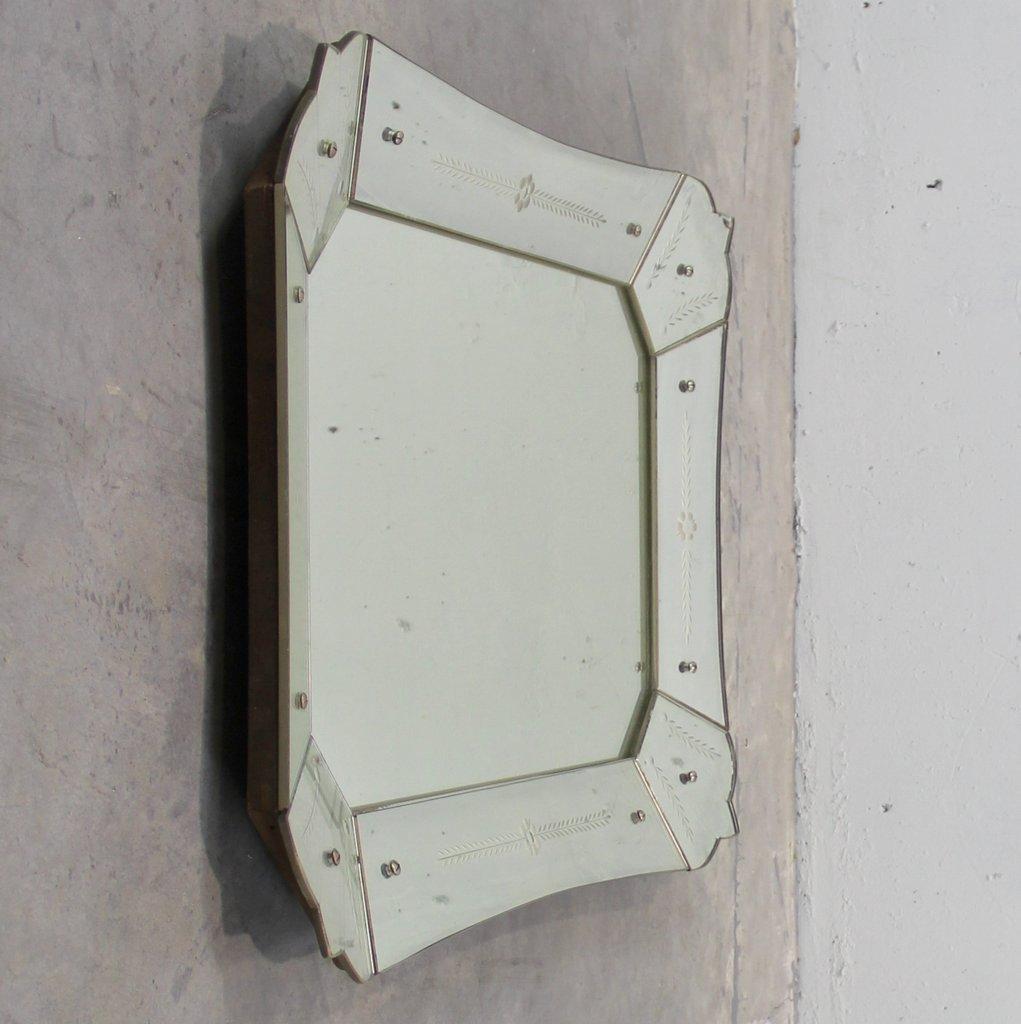 Italienischer art deco spiegel bei pamono kaufen for Spiegel wc deco