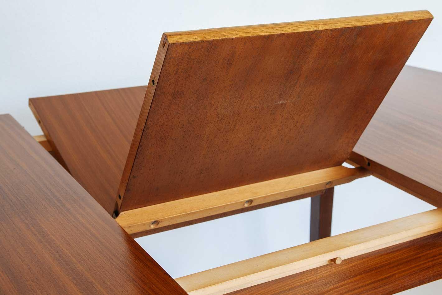 vintage holz esstisch mit erweiterbarer tischplatte bei pamono kaufen. Black Bedroom Furniture Sets. Home Design Ideas
