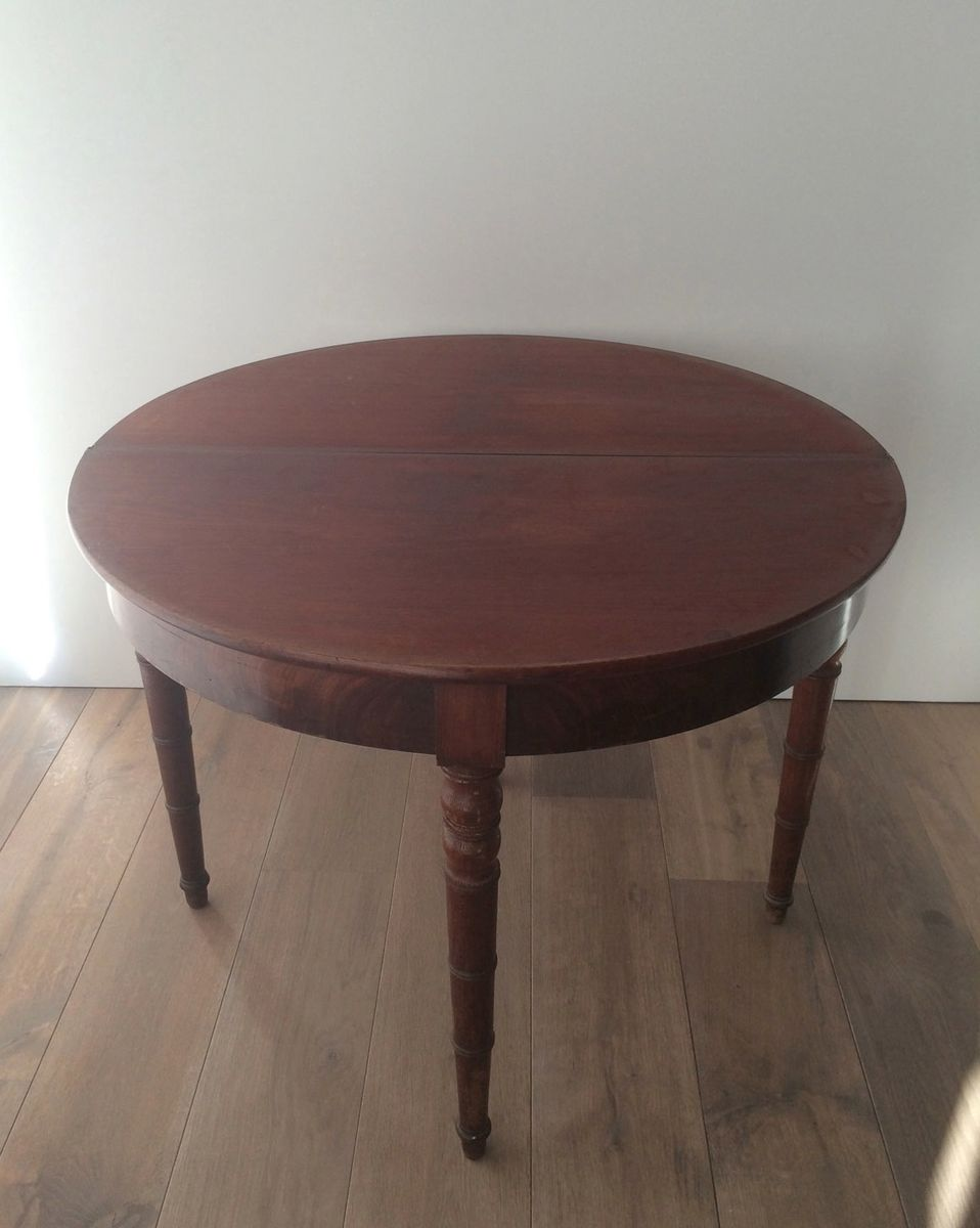 French folding mahogany console table for sale at pamono for Table console retractable