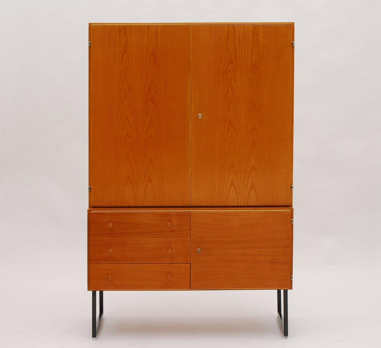 vintage wooden highboard by interier praha 1965 for sale. Black Bedroom Furniture Sets. Home Design Ideas