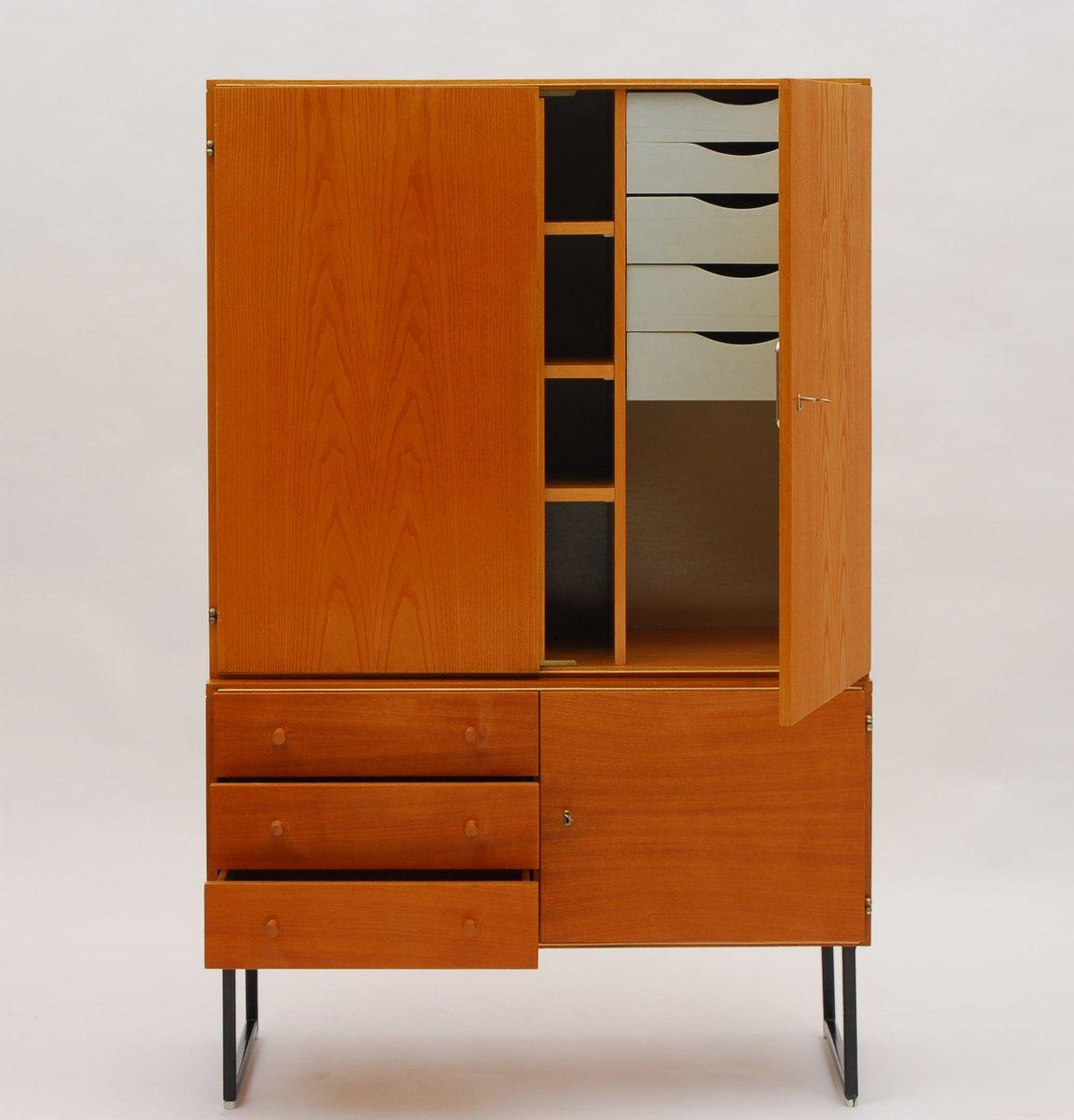 vintage wooden highboard by interier praha 1965 for sale at pamono. Black Bedroom Furniture Sets. Home Design Ideas
