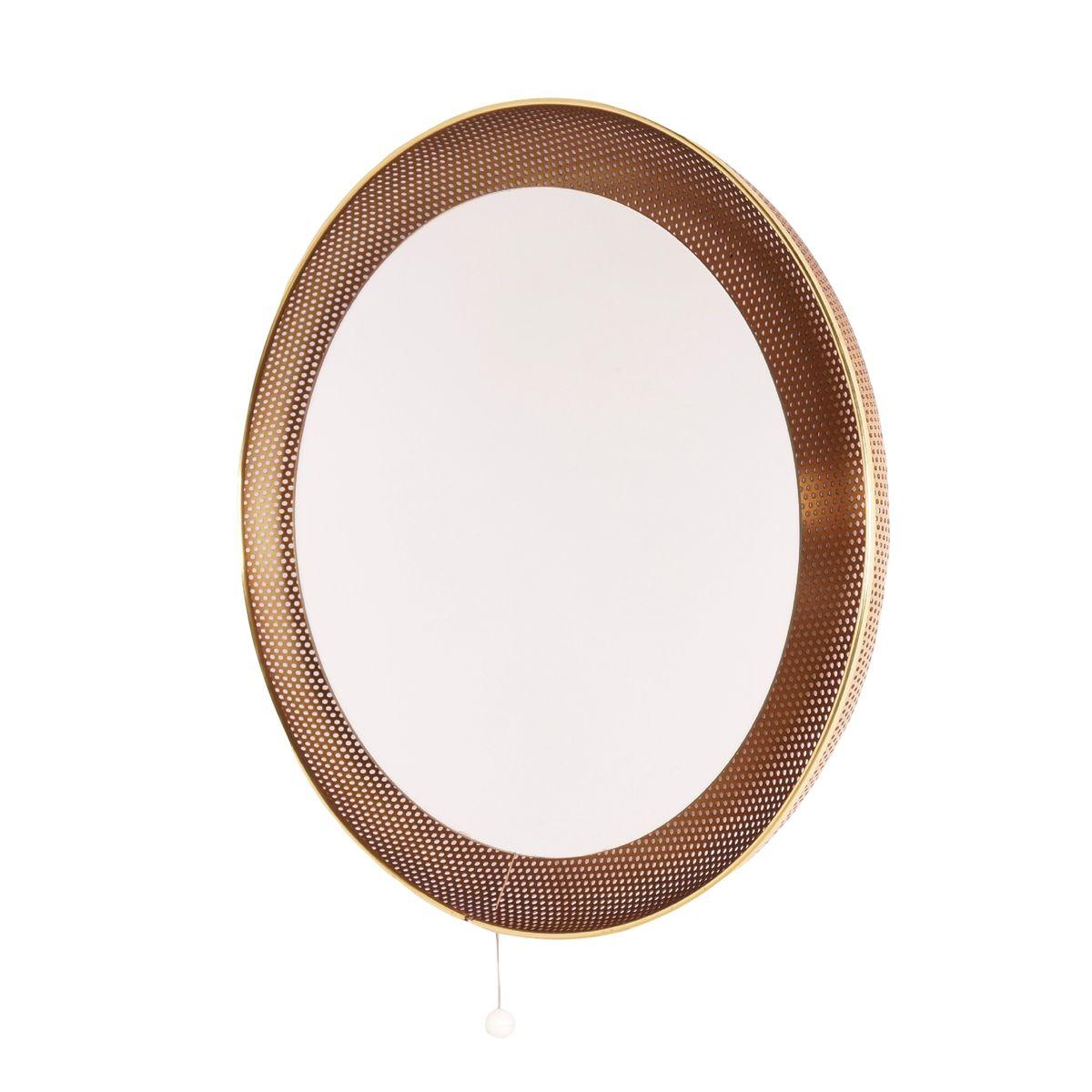 perforierte spiegel lampe von artimeta bei pamono kaufen. Black Bedroom Furniture Sets. Home Design Ideas