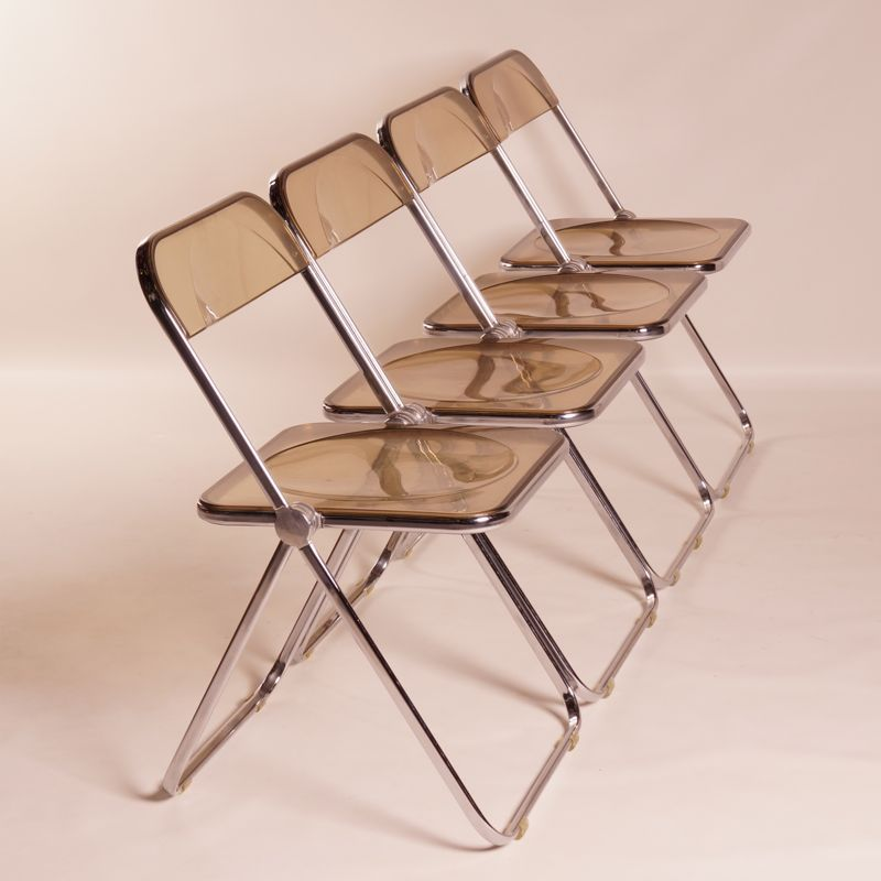 Plia Folding Chairs for Giancarlo Piretti for Castelli Set of 4 for sale at