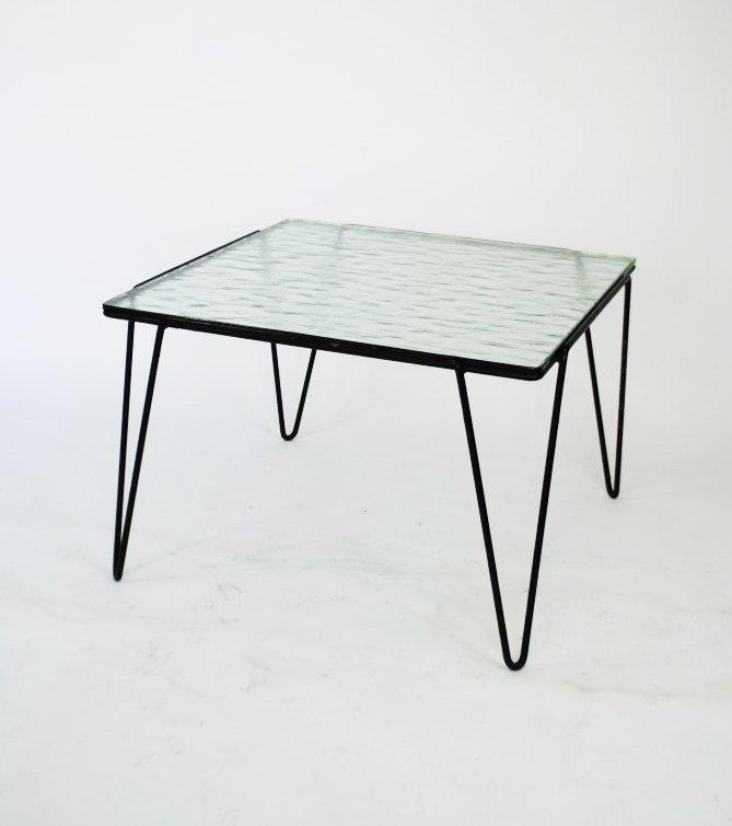 glas und metall couchtisch von arnold bueno de mesquita. Black Bedroom Furniture Sets. Home Design Ideas