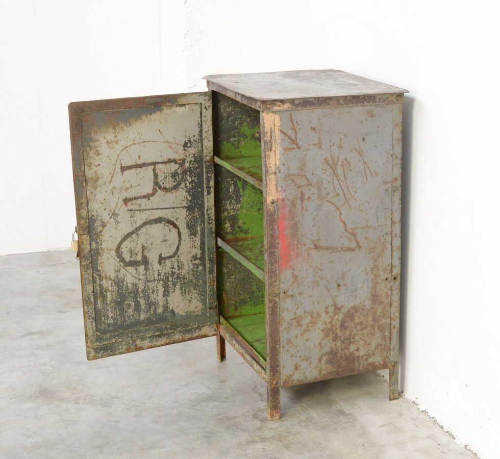 Industrial Metal Cabinet 1930s For Sale At Pamono