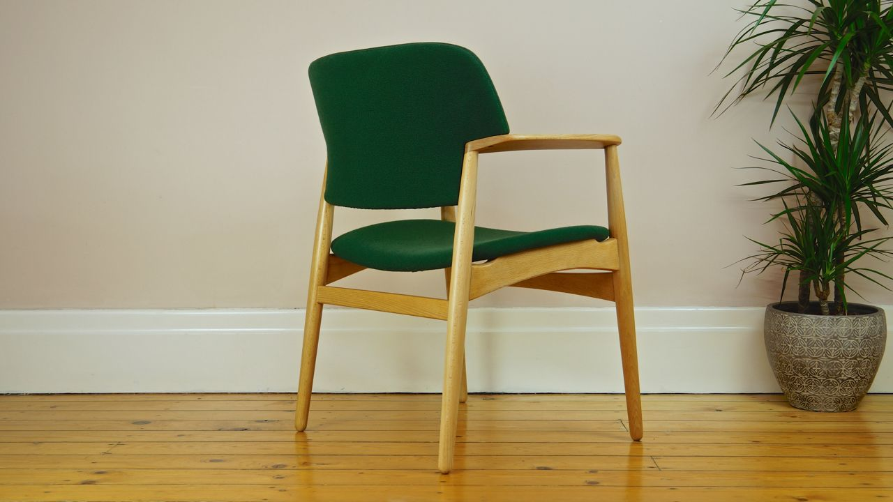model 4205 danish vintage armchair by ejner larsen aksel