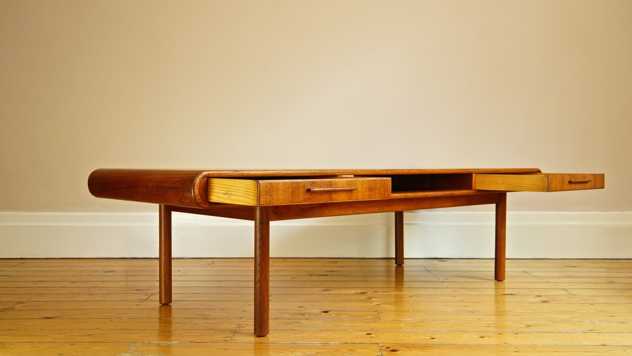 Danish Teak Coffee Table with Drawers from Toften for sale ...