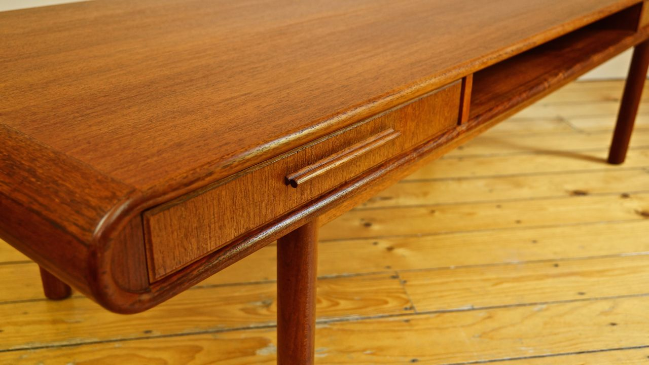 Danish Teak Coffee Table with Drawers from Toften for sale