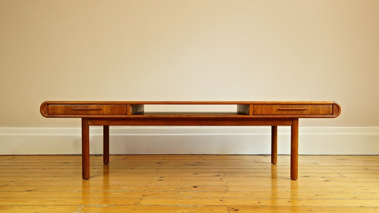 Danish Teak Coffee Table With Drawers From Toften For Sale At Pamono