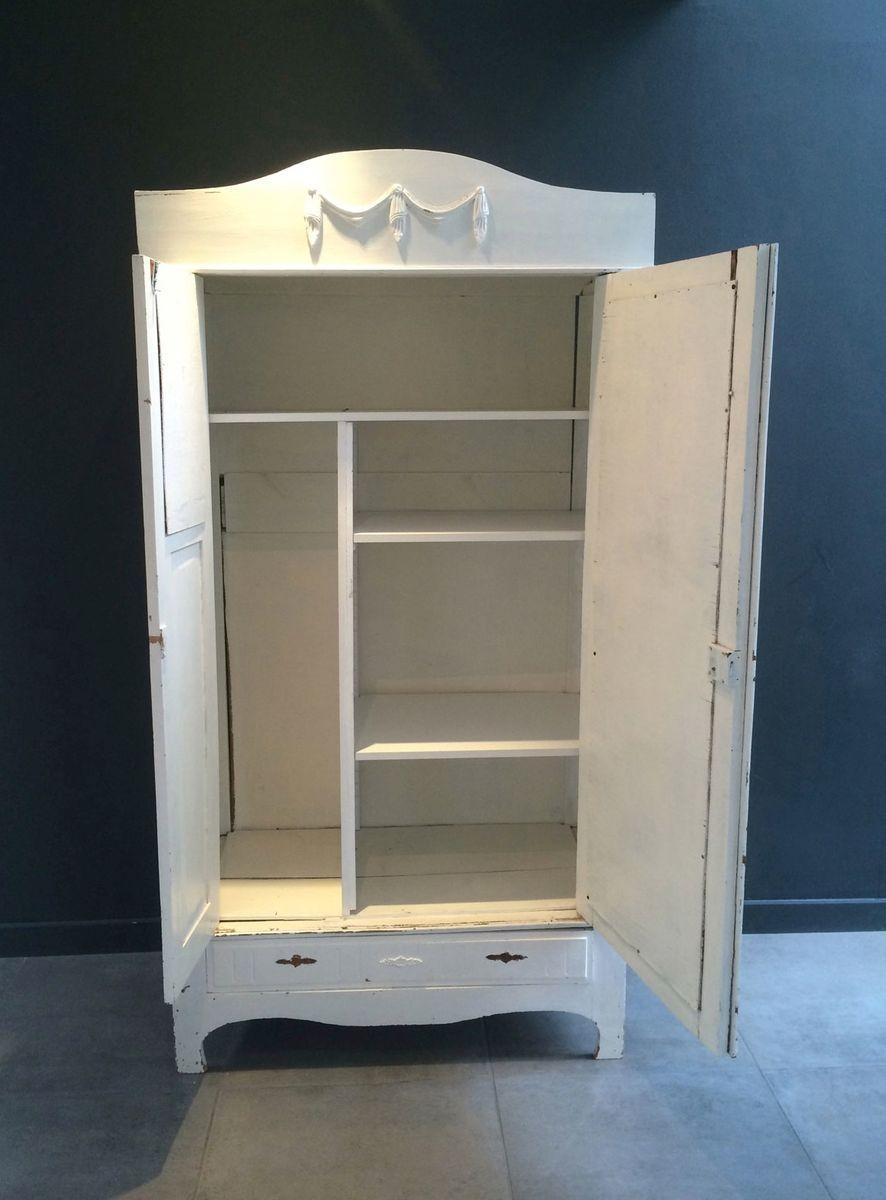 antiker holz kleiderschrank bei pamono kaufen. Black Bedroom Furniture Sets. Home Design Ideas