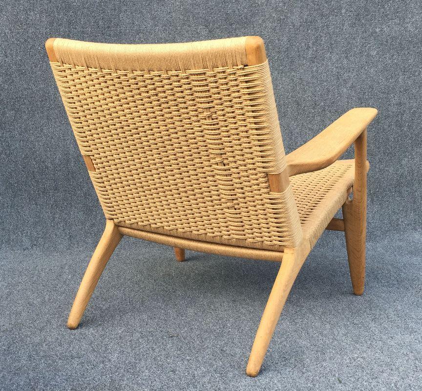 oak ch25 chair by hans j wegner for carl hansen son for. Black Bedroom Furniture Sets. Home Design Ideas