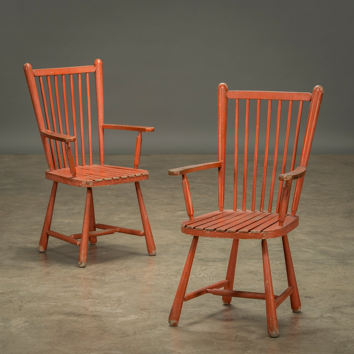 Vintage Wooden Chairs, Set Of 2 For Sale At Pamono