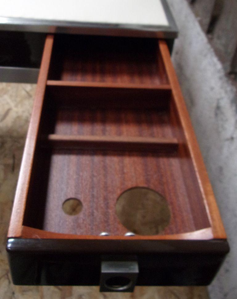 mid century eisen und stahl spieltisch von guy lefevre f r jansen bei pamono kaufen. Black Bedroom Furniture Sets. Home Design Ideas