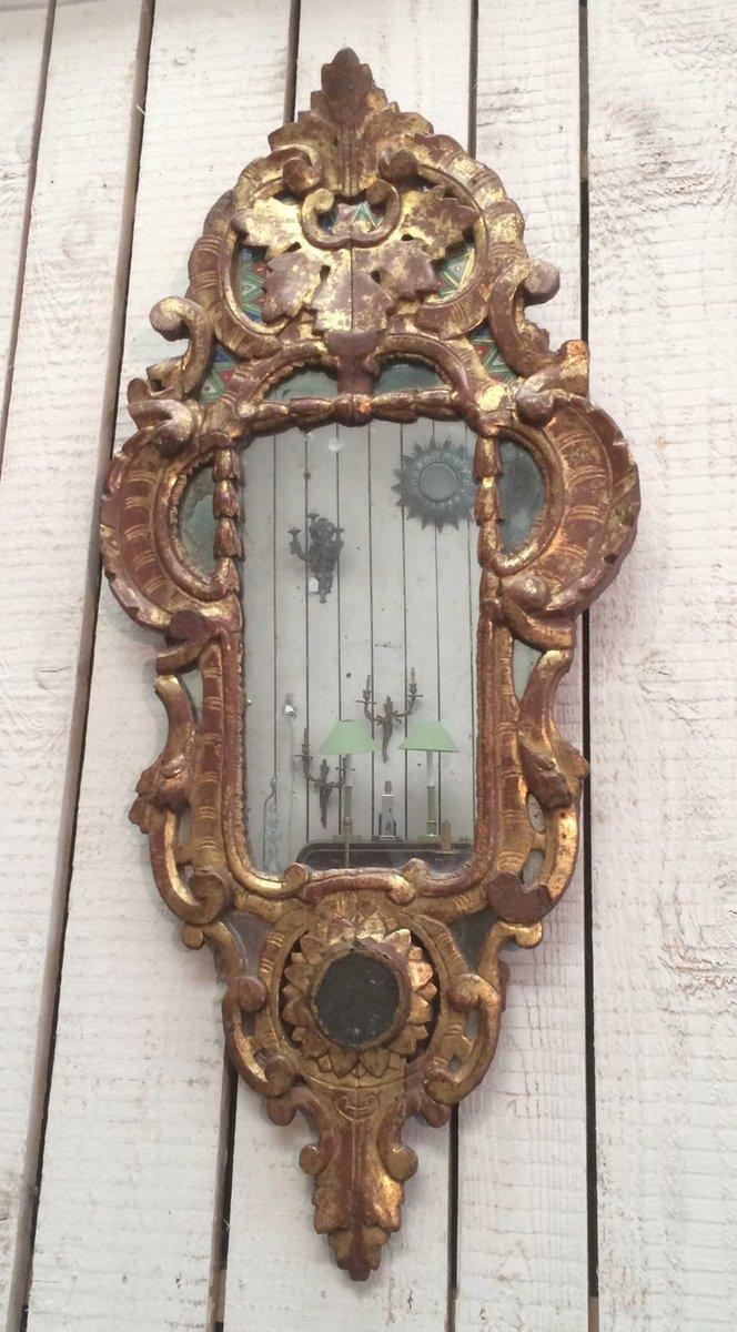 Miroir antique dor avec cadre en bois en vente sur pamono for Miroir avec cadre en bois