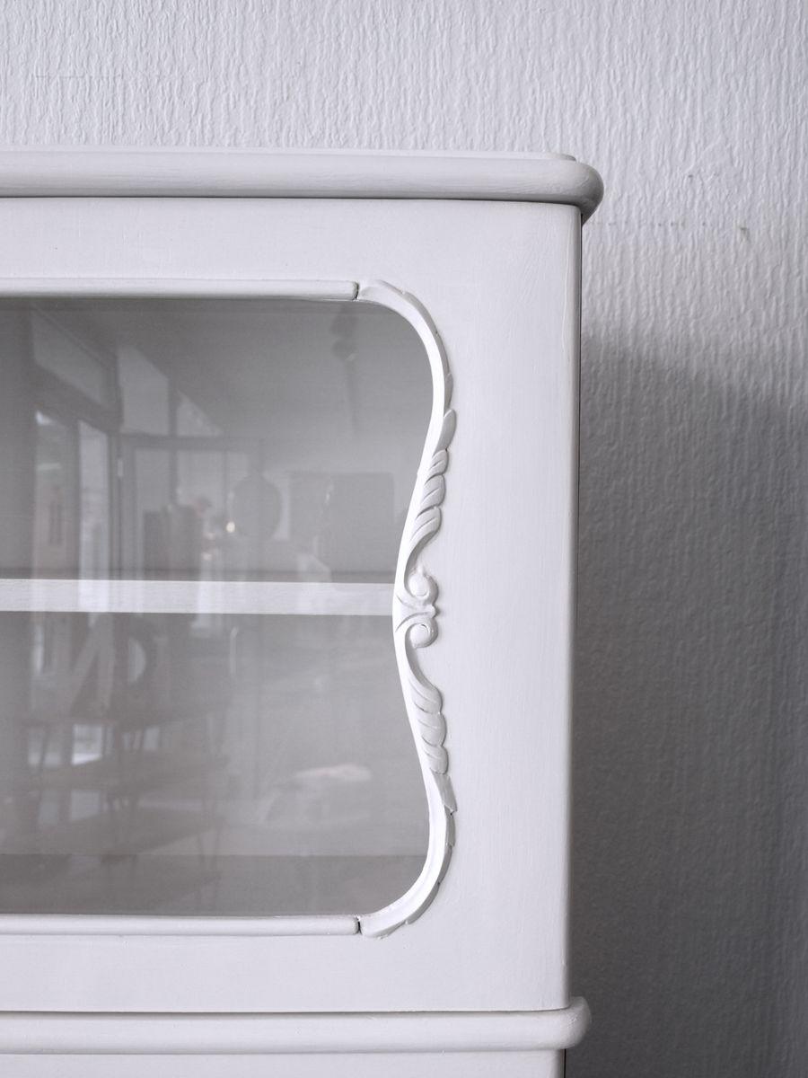 Küchenschrank Englisch kleiner deutsche vintage küchenschrank aus holz glas bei