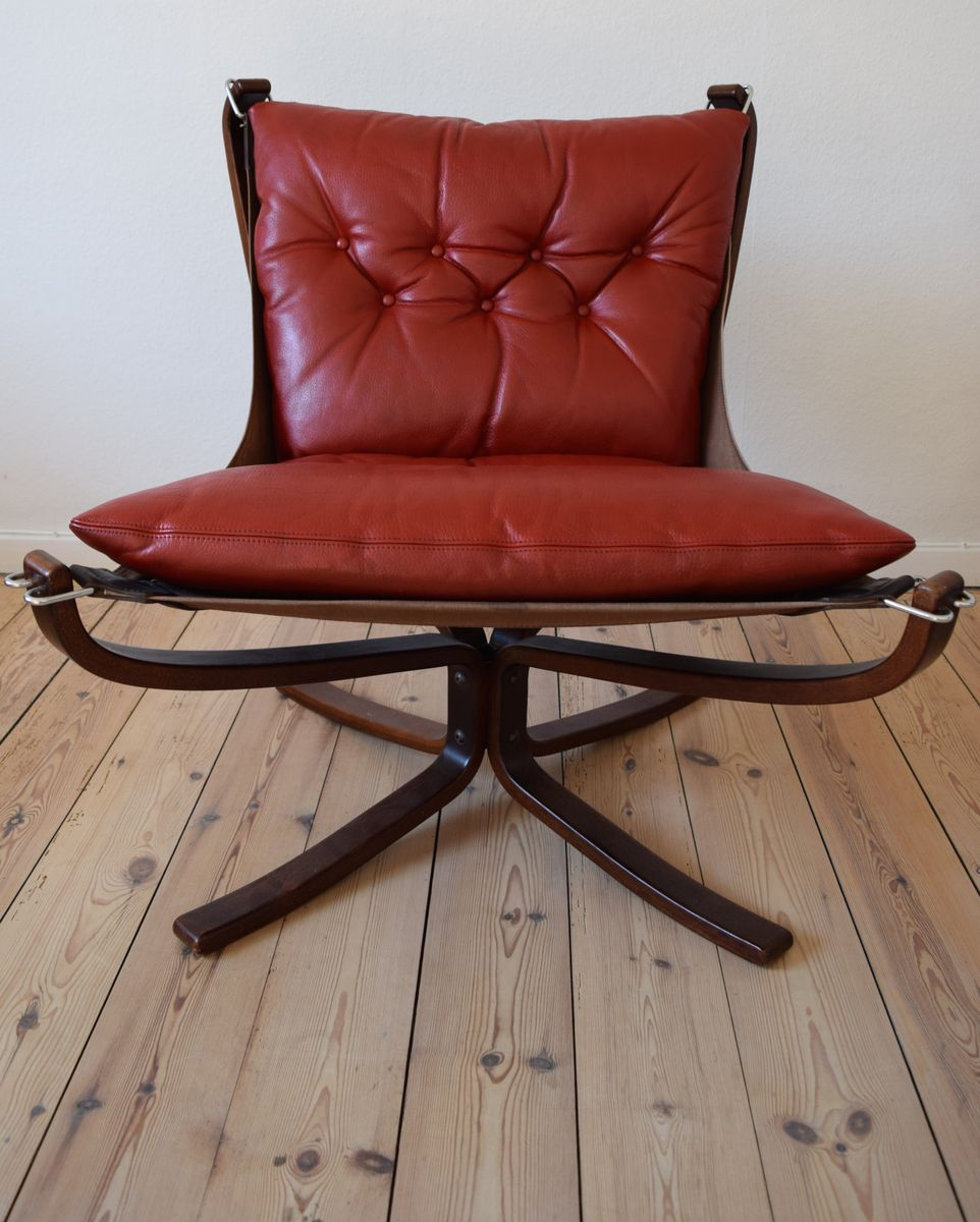 Norwegian Mid Century Low Back Falcon Chair by Sigurd Ressell for Vatne Mobler, 1976 for sale at ...
