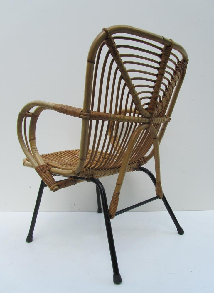Mid century dutch rattan lounge chair 1960s for sale at pamono for Dutch design chair uk