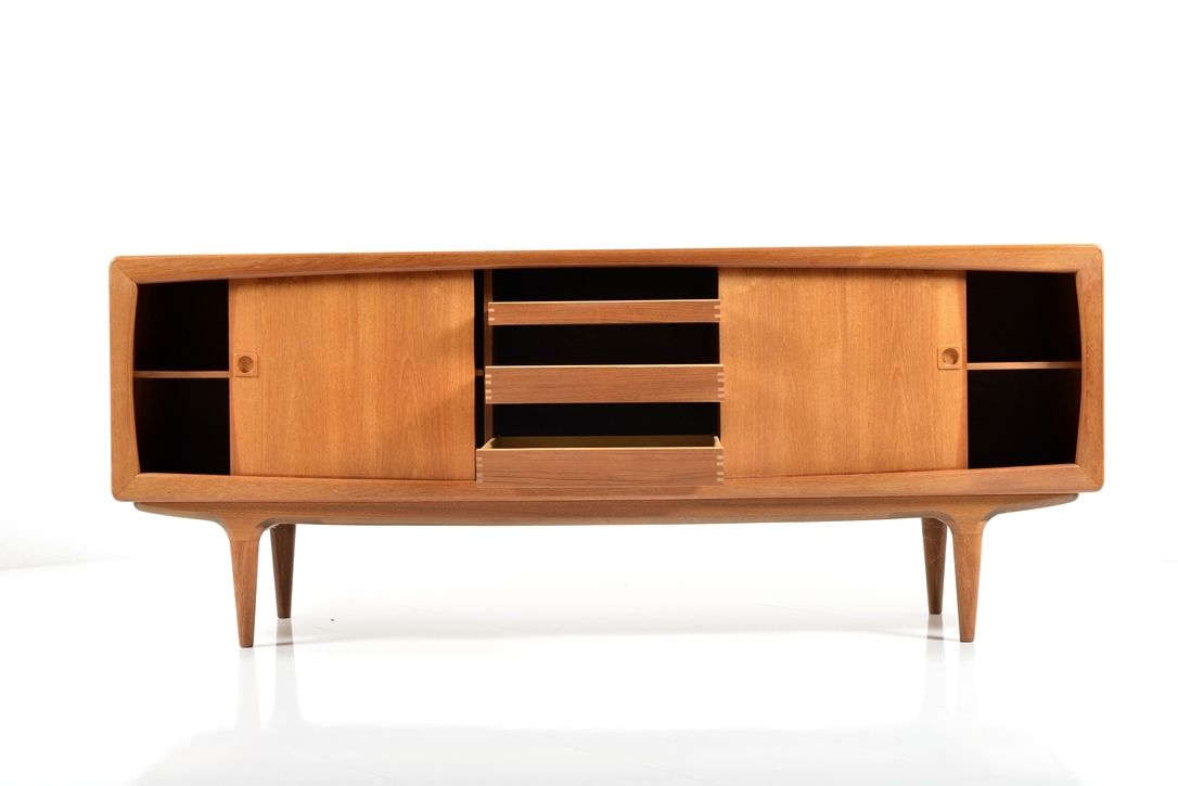 danish mid century teak sideboard 1960 for sale at pamono. Black Bedroom Furniture Sets. Home Design Ideas