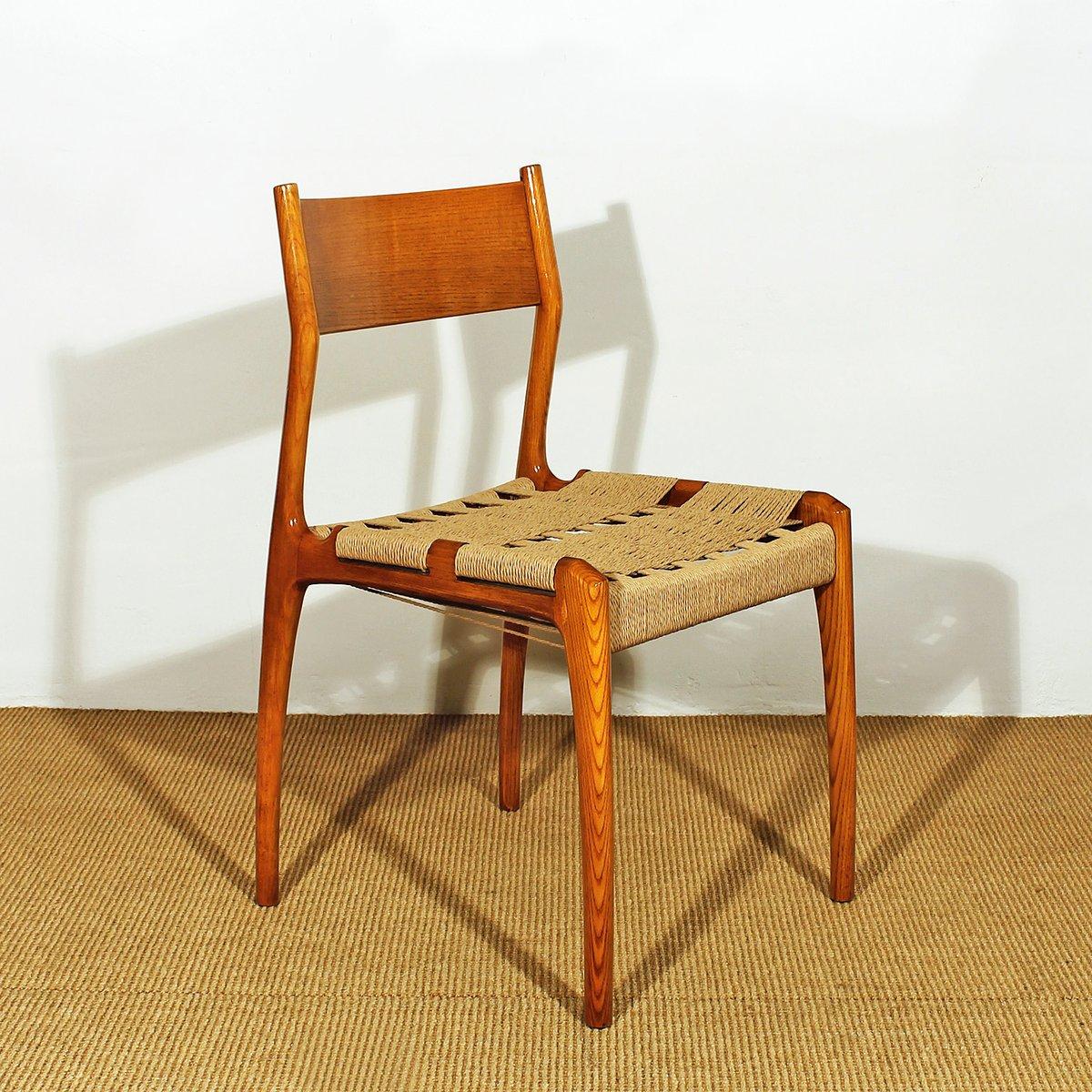 vintage eschenholz esszimmerst hle italien 6er set bei. Black Bedroom Furniture Sets. Home Design Ideas