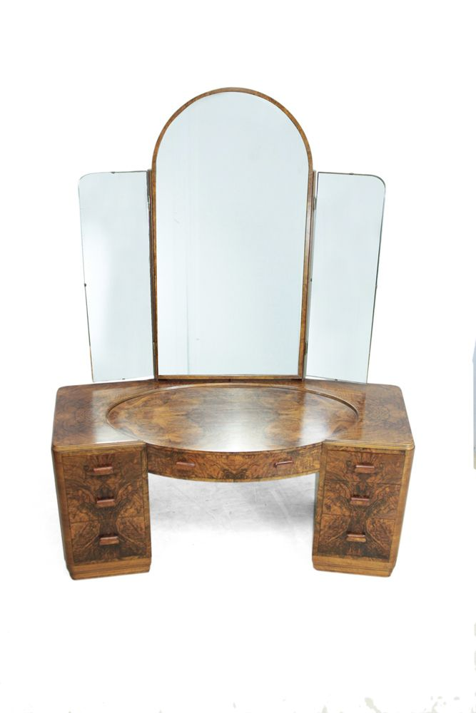 Art Deco Dressing Table And Stool 1930s For Sale At Pamono